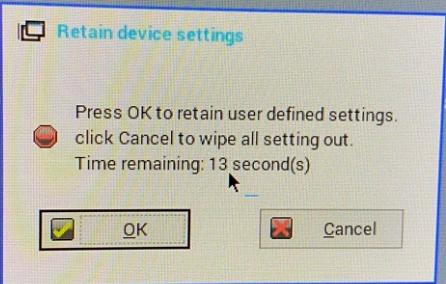 Thinos Firmware upgrade message