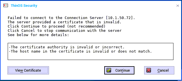 Certificate issues