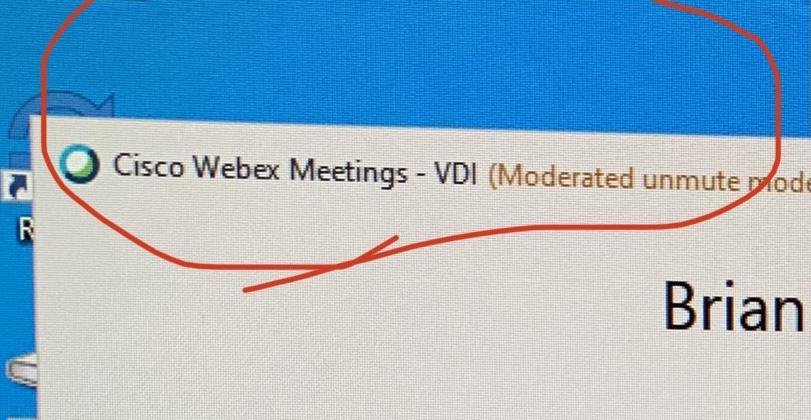 WebEx VDI
